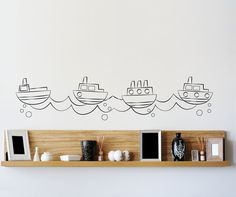 looking for ideas for Lyla's room, like the tugboats :)
