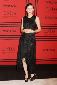 June 3 2013  Rooney Mara wore a dress by Calvin Klein Collection and heels by Brian Atwood.