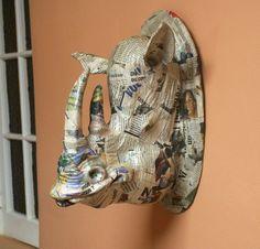 paper mache taxidermy