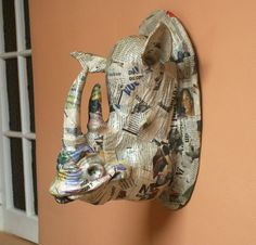 paper mache taxidermy-wow