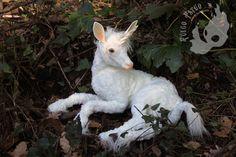 PREORDER White unicorn fawn by FuegoFatuo Fairy World & Fantastic Creatures Keka❤❤❤