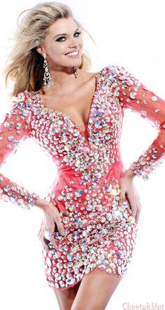 Sherri Hill -Embellished Mini Dress