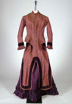 Paisley. Looks like three piece dress. 1883