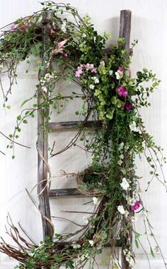 Ladder Front Door Decor! Pimitive/Country! - home -2- me