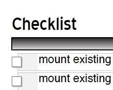PDF fillable checklist - http://diyplanner.com/files/Checklist_0.pdf