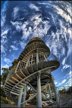 Perth, Western Australia - located in 'Kings Park' called 'Jacob's Ladder' used for the view it offers at the top of the staircase over Perth City & the Beautiful Park. It's popular w' people Exercising & Personal Trainers alike early mornings or at dusk.