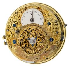 Repeating pocket watch movement with dial, hands and cap. 1800
