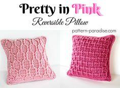 Free Crochet Pattern: Pretty In Pink Pillow