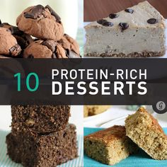 10 High-Protein Desserts Made in 10 Minutes or Less http://greatist.com/eat/high-protein-dessert-recipes