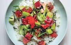 6 easy steps to making Hawaii  in a bowl. Yep: It's tuna poké.  Bon Appetite Mag