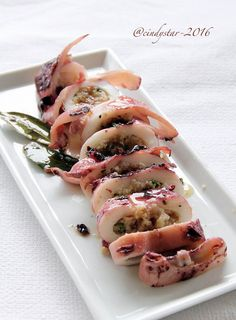 calamaro ripieno - Squid stuffed with Alida