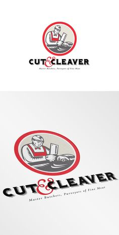 Check out Cut and Cleaver Master Butcher Logo by patrimonio on Creative Market