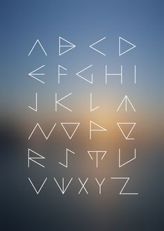 is a typeface I created for the purpose of another project. A minimalistic approach to equilateral triangle with all the shapes it can be developed into. Journal Fonts, Bullet Journal Notes, Bullet Journal Ideas Pages, Bullet Journal Inspiration, Journaling, Alphabet Symbols, Hand Lettering Alphabet, Calligraphy Fonts, Typography Fonts