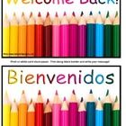 FREE Welcome Back To School Postcards!  A choice of 4 Welcome Back To School Postcards in English and Spanish.  Print on white card stock paper on ...
