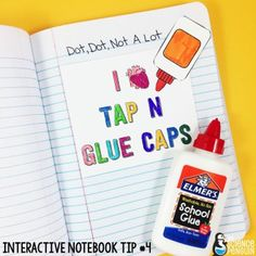 Interactive Science Notebook Tips: Glue