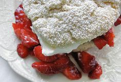 Thank you Alice Waters. The is the perfect strawberry shortcake recipe! The cream biscuits came out perfect and are easy to make. With fresh local strawberries from the Berkeley farmer market, and homemade organic whipped cream. Delicious and I think I can even call it healthy! ;)