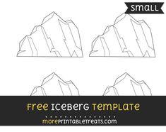 Free Iceberg Template - Small