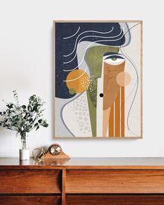 Aura, Large Wall Art Print, Abstract Faces Art, Contemporary Art, Neutral Color … - Sites new Modern Art Paintings, Modern Art Prints, Modern Wall Art, Large Wall Art, Wall Art Prints, Modern Contemporary Art, Canvas Prints, Art Pour Salon, Grand Art Mural