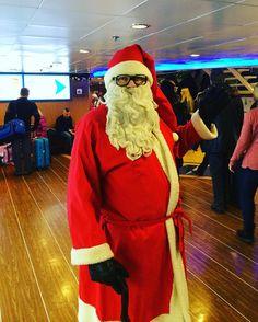 """""""Joulupukki, joulupukki, valkoparta vanha ukki..."""" Hänet tapaat myös m/s Finlandialla aatonaattoon saakka! #eckeröline #msfinlandia #joulupukki #joulu"""