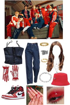 Kpop Fashion Outfits, Stage Outfits, Edgy Outfits, Mode Outfits, Girl Outfits, Bts Inspired Outfits, Mode Kpop, Stylish Dresses For Girls, Aesthetic Clothes