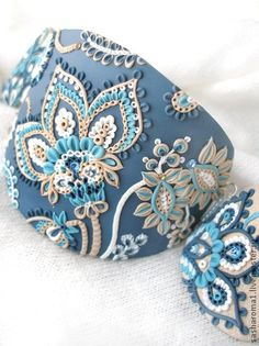 Polymer jewelry in silver filigree. Discussion on LiveInternet - Russian Service Online diary