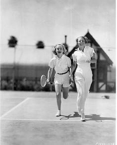 Carole Lombard and tennis pro Alice Marble