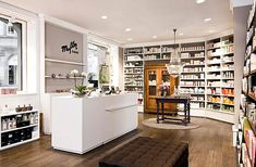 "Pharmacy Design | Retail Design | Store Design | Pharmacy Shelving | Pharmacy Furniture | ""Home of Beauty"" in Stuttgart (Germany)."