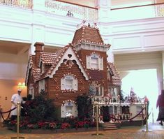 This is some serious Gingerbreading! Life-size gingerbread house in the lobby of Disney's Grand Floridian Hotel. Got to love Disney!