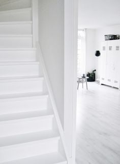 white little stairs