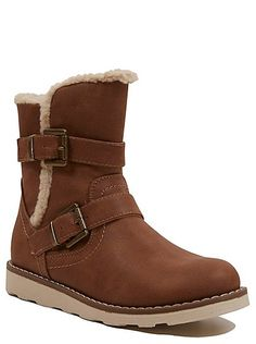 Borg Trim Wedge Boots, read reviews and buy online at George at ASDA. Shop from our latest range in Kids. Freshen up their flats with these stylish wedge boo...