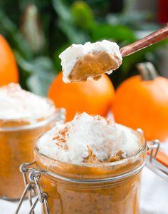 Pumpkin Pie Chia Pudding (Gluten Free, Vegan, Paleo, Refined Sugar Free) #SproutedRoutes