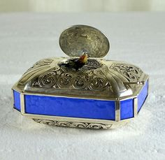 Sterling Silver Musical Singing Bird Music Box Automaton | eBay