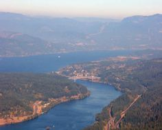 Looking East at the Bridge of the Gods. Columbia River Gorge, Wa. & Or. Multnomah Falls, Columbia River Gorge, Looking Forward, Going Home, Pacific Ocean, Boating, West Coast, Places Ive Been, Oregon