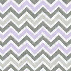 Lilac and Slate Gray Chevron Sold by the Yard #carouseldesigns