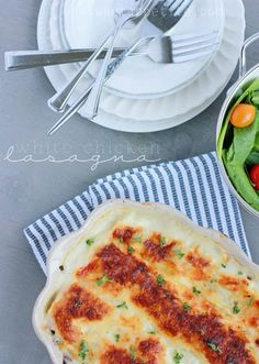 An amazing white chicken lasagna from one sweet appetite