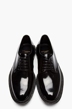 Saint Laurent for Men Collection Army Shoes, Men S Shoes, Running Shoes For Men, Black Patent Leather, Leather Shoes, Derby, Wingtip Shoes, Black Dress Shoes, Casual Shoes
