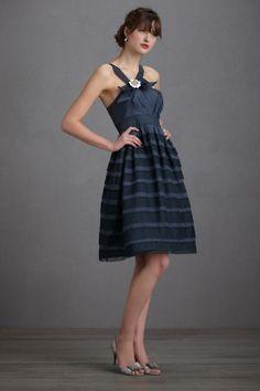 blue vintage bridesmaid dress