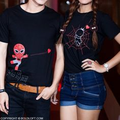 BoldLoft Capture by Your Love Matching Couples Shirts. This Christmas, be her hero and surprise her with this cute his and hers couple shirts.