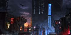 concept ships: Pitch concept paintings for Dr. Who by Michal Kus