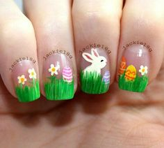 Easter nails!!! Love! on We Heart It