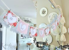 Make a DIY Valentine's day banner with printables