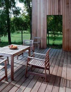 Wooden patio Outdoor Rooms, Outdoor Furniture Sets, Outdoor Decor, Wooden Patios, Pergola, Sun Shade, Flat Color, Belle Photo, Water Features