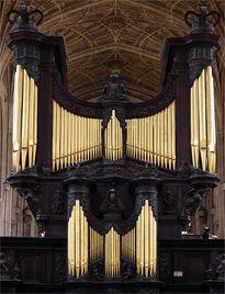 1968 Harrison organ at King's College Chapel, Cambridge, England, UK