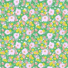 Ditsy Green - Pattern designed by Emily Isabella.