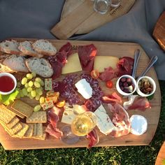 Meat and Cheese Platter at Cape Point Vineyards