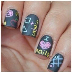 chalkboard art ideas | chalk nails Amazing DIY Nail Art Ideas