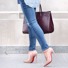 My favorite combo: skinny jeans & high heels  Hope you're have a great Tuesday.