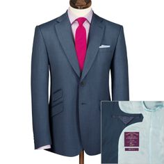 Airforce birdseye Yorkshire worsted slim fit luxury suit | Men's business suits from Charles Tyrwhitt | CTShirts.com