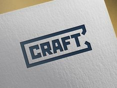 Logo for CRAFT Company Logo, Branding, Logos, Crafts, Manualidades, Logo, Handmade Crafts, Brand Identity, Branding Design