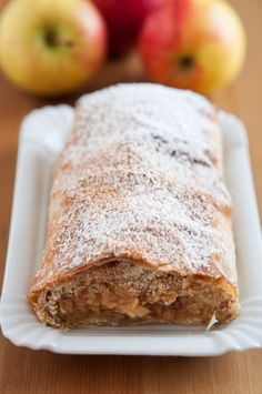 Cinnamon Apple Strudel - Apple strudel is a wonderful Austrian dessert that is a perfect marriage of all things sweet and tart. Sometimes American adaptations can be a little too sweet, but the origin (Mix Berry Strudel) Austrian Desserts, German Desserts, Austrian Recipes, Just Desserts, Delicious Desserts, Yummy Food, Austrian Cuisine, Austrian Food, German Recipes